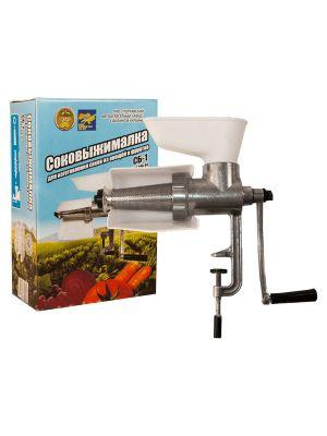 Ручная шнековая соковыжималка ТАПАЗ СБ-1 для томатов, винограда, малины (до 20 кг/час, Полтава)