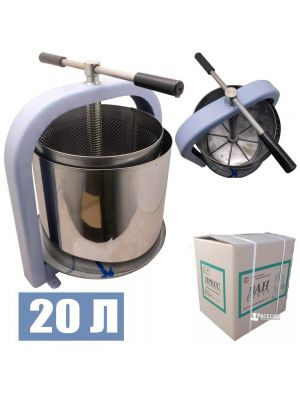 Прес гвинтовий ЛАН для вичавлення соку з яблук, винограду, овочів (20 літрів) + мішок для соку